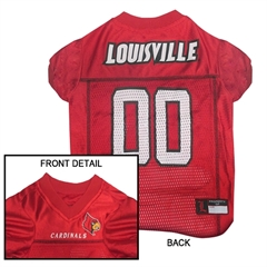 Mirage Pet Products Louisville Cardinals Jersey Large