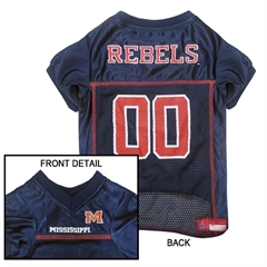 Mirage Pet Products Mississippi Ole Miss Jersey Medium