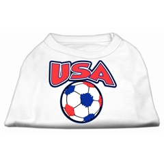 Mirage Pet Products USA Soccer Screen Print Shirt White XXL (18)
