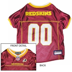 Mirage Pet Products Washington Redskins Jersey Large