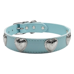 Mirage Pet Products Western Heart Leather Baby Blue 24