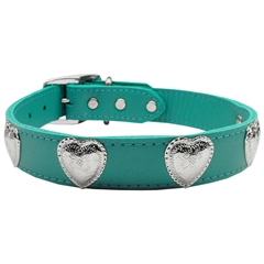 Mirage Pet Products Western Heart Leather Jade 22