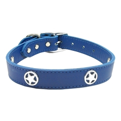 Mirage Pet Products Western Star Leather Blue 26