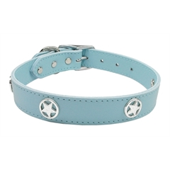 Mirage Pet Products Western Star Leather Baby Blue 22
