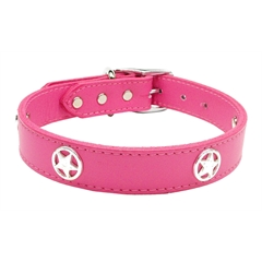 Mirage Pet Products Western Star Leather Pink 22