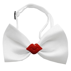 Mirage Pet Products Kissy Kissy Chipper White Bow Tie