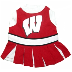 Mirage Pet Products Wisconsin Badgers Cheer Leading XS