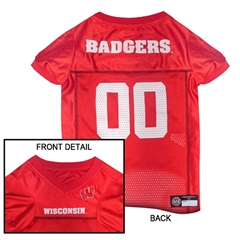 Mirage Pet Products Wisconsin Badgers Jersey Small