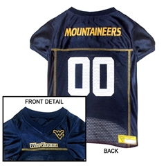 Mirage Pet Products West Virginia University Jersey Medium