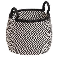"""Prevé Basket - White & Black 15""""x15""""x15"""""""