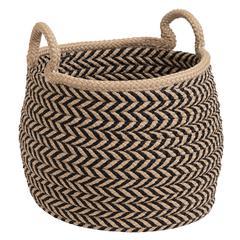 "Prevé Basket - Taupe & Black 12""x12""x12"""