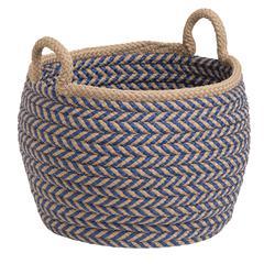 """Prevé Basket - Taupe & Blue 12""""x12""""x12"""""""