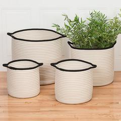 """Sonoma Basket - White 14""""x14""""x12"""""""
