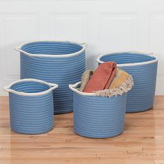 "Sonoma Basket - Blue 14""x14""x12"""