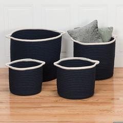 """Sonoma Basket - Navy 14""""x14""""x12"""""""