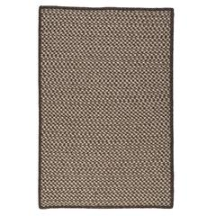 Natural Wool Houndstooth - Espresso 4'x6'
