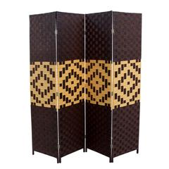 """Espresso/Brown Paper Straw Weave On 2""""H Legs. Handcrafted."""