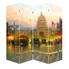 "71"" Capitol Hill Street Scene Canvas Room Divider"