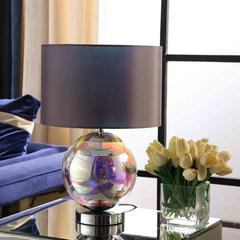 "18.75"" In Artie Orb Irredescent Chrome Table Lamp"