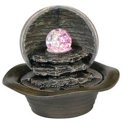 "8"" Table Fountain With Led Light"