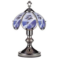 14.25 In Insync Jumping Dolphin Black Chrome Touch-On Lamp