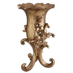 """16""""H Athena Bronze Décor Vase"""