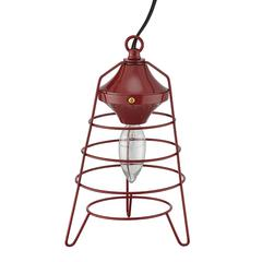 """9.5"""" In Red Camp Lantern Table Lamp"""