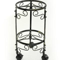 """18""""H Dual Plant Stand W/ Wheels"""