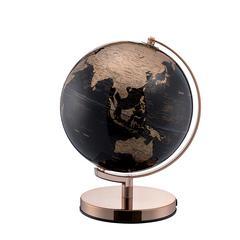 12.5 In Black/Gold Globe On Rose Gold Metal Frame