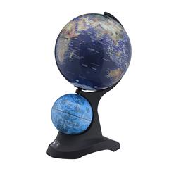 17.5 In Dual Globe W/ Constellation On Black Acrylic Base