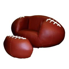 Football Chair & Ottoman Set