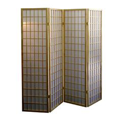 4-Panel Room Divider - Natural