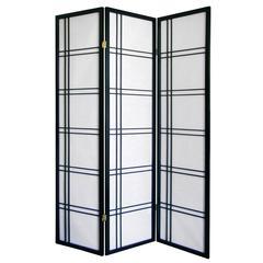 Girard 3-Panel Room Divider - Black