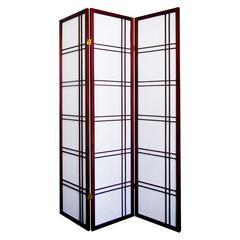 Girard 3-Panel Room Divider - Cherry