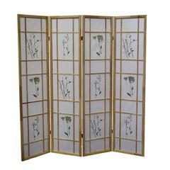 4 Panel Shoji Screen - Natural