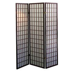 3-Panel Room Divider - Cherry