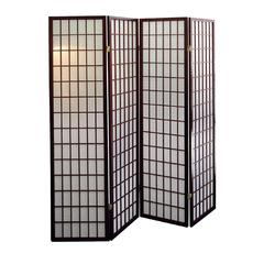 4-Panel Room Divider - Cherry