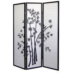 3-Panel Room Divider - Bamboo