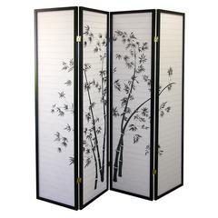 4-Panel Room Divider - Bamboo