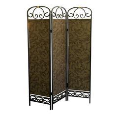 3-Panel Room Divider - Antique Gold