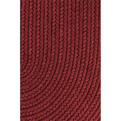 "Rhody Rug WearEver Colonial Red Poly 18"" x 36"" Slice"