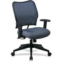 "Space VeraFlex Series Task Chair - Blue - Fabric Blue Mist Seat - Fabric Back - 27"" x 26.5"" x 40"" Overall Dimension"