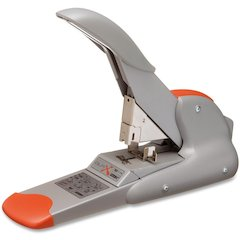Rapid DUAX Heavy Duty Stapler - 170 Sheets Capacity - 400 Staple Capacity - Flat Clinch Stapling - Silver, Orange
