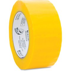 """Duck Brand Commercial Grade Colored Packaging Tape - 1.88"""" Width x 109.30 yd Length - 3"""" Core - 1.90 mil - Yellow"""