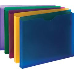 """Smead Poly File Jackets - 1"""" Folder Capacity - Letter - 8 1/2"""" x 11"""" Sheet Size - 1"""" Expansion - Translucent Poly - Assorted - 10 / Pack"""