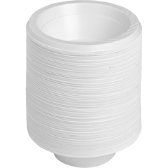Reusable Plastic Bowls - 125 / Pack - 12 fl oz Bowl - Plastic - Serving - Disposable - White - 1000 Piece(s) / Carton