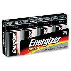 Energizer Max Alkaline 9-Volt Battery - 9V - Alkaline - 9 V DC - 96 / Carton