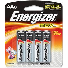 Energizer Max Alkaline AA Batteries - AA - Alkaline - 384 / Carton