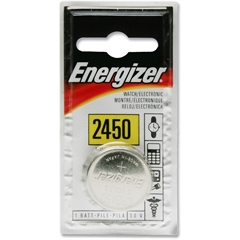 Energizer 2450 3-Volt Coin Watch Battery - CR2450 - Lithium (Li) - 3 V DC - 72 / Carton