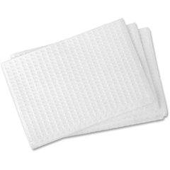 """RMC Changing Table Liner - 18"""" x 13.38"""" - Poly Backing - 500 / Carton - Paper - White"""